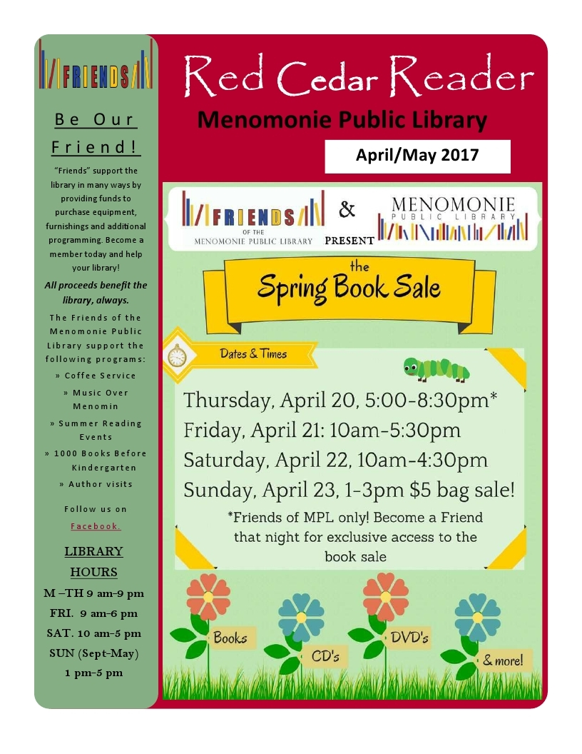 Red Cedar Reader April 2017