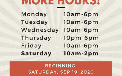 Saturday Hours Coming