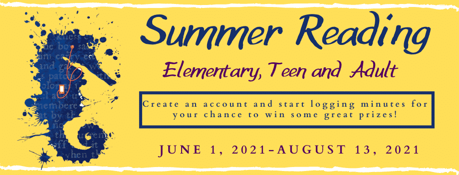Summer Reading 2021 program learn more and signup
